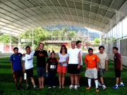 Playing 'futbol' with the locals