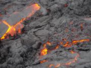 Hot lava from Volcano Pacaya